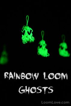 Rainbow Loom Glow-in-the-Dark Ghosts