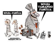 Corruptos e Famílias miseráveis do Bolsa Família