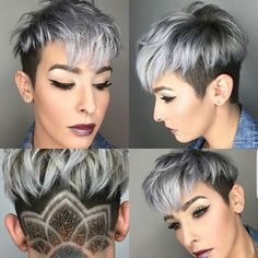 WEBSTA @ imallaboutdahair - Just a great pixie cut on @sayyestojess_ . Cut by @megnificenttt__