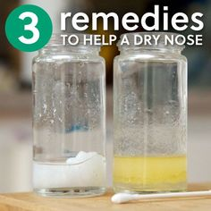 3 Simple Remedies to Help a Dry Nose- great to have for this winter!