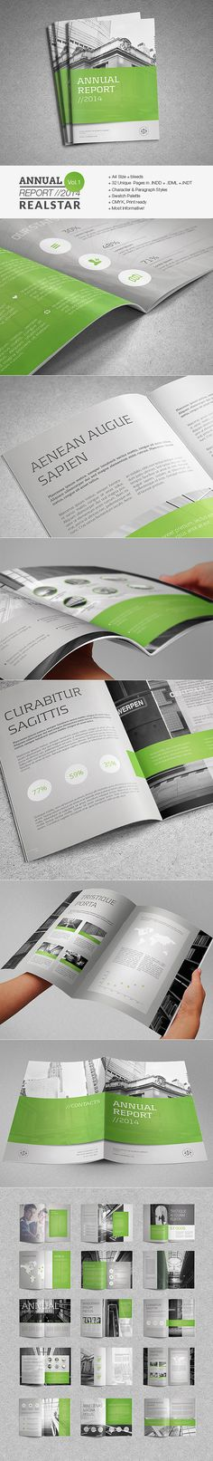 Annual Report Template II by Realstar, via Behance