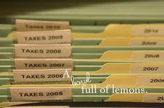 File Cabinet Organization
