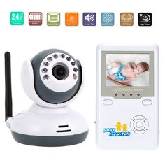 121.80$  Buy here - http://aixk6.worlditems.win/all/product.php?id=32723510134 - 2.4 inch LCD baby monitor with camera IR Night Vision 2 way Talk Lullabies Zoom 4 CHs Rechargeable Battery audio baby monitor