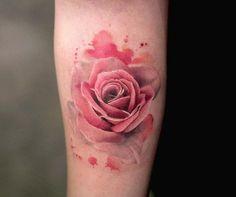 Watercolor rose by Joice Wang