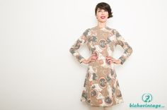 1b56a3ed1e Vintage Marcelle Griffon Tan Angora Dress Size M - Bichovintage - Online  vintage and retro clothing store