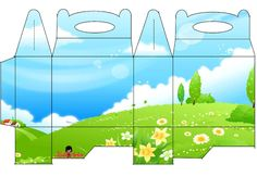 Flowered Field: Free Printable Lunch Box.