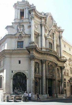 Italy - Rome - San Carlo alla quatro fontane