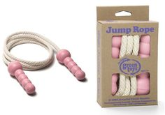 This eco friendly skipping rope comes with a pure cotton rope and recycled handles. Organic Baby Toys, Green Toys, Skipping Rope, Cotton Rope, Girl Gifts, Wooden Toys, Kids Toys, Recycling, Artisan