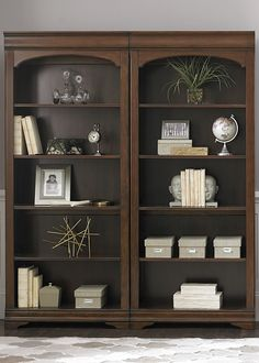 Chateau Valley Bunching Bookcase - Timeless in design and appeal. The Chateau Valley Home Office Collection by Liberty Furniture featu - Home Office Design, Home Office Decor, Home Decor, Home Office Furniture, Cool Furniture, Furniture Stores, Furniture Removal, Luxury Furniture, Furniture Ideas
