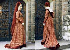Burgundian Houppelande (http://www.historical-costumes.eu/de/Mittelalter.html)