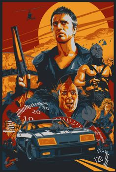 Mad Max Road Warrior Screen Print Poster by Vance Kelly not Mondo Mad Max 2, Mad Max Fury Road, Best Movie Posters, Movie Poster Art, Print Poster, The Road Warriors, Cinema Tv, Movies And Series, Kino Film