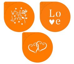 Stencil - With Love - Hearts and roses - what better way to show your love. Hearts And Roses, Love Heart, Valentines Day, Stencils, Valentines Diy, Heart Of Love, Stenciling, Stencil, Valentine Words