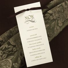 Inspired! Wedding Tips and Ideas: Menu Cards