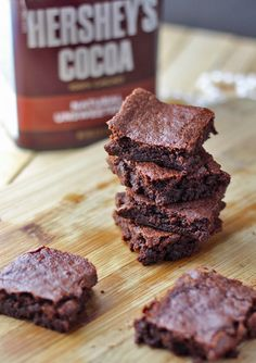 If you are looking for a Clean Eating Brownies Recipe that really hits the spot, look no further. We use Hershey's cocoa in this recipe and you'll love it! #brownies #cleaneating