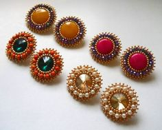 bead embroidery earrings