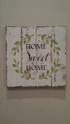 Rustic Home Decor Home Sweet Home Sign Rustic Pallet Sign Hand Painted Pallet Sign Customizable Rustic Pallet Sign Sweet Home Hand Painted And