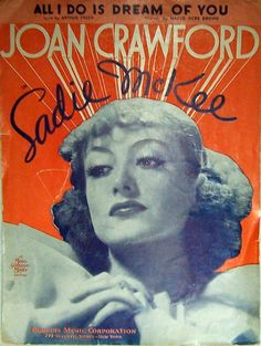 Vintage Sheet Music 1930s Musical Joan Crawford by GlimmersinTime, $5.95