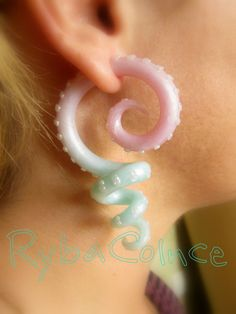 Fake ear tentacle gauges Faux gauge/Gauge by RybaColnce on Etsy, $28.00