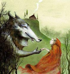Caperucita-roja. Ilustración. ¿De quién¿