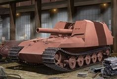 German Geschutzwagen VI Tiger Grille 21/210mm Mortar 18/1/L/  Stuks