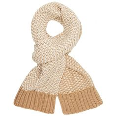 Charlotte Russe Contrast Knit Wrap Scarf (20 MYR) ❤ liked on Polyvore featuring accessories, scarves, camel, thick knit scarves, charlotte russe scarves, knit shawl, wrap scarves and chunky knit shawl