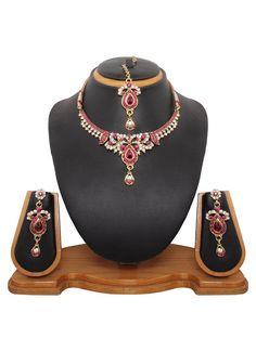 Mystic Stone Studded Necklace Set