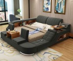 Bedroom bed design - The Ultimate Bed Enclosure System Comfy Bedroom, Bedroom Bed Design, Home Decor Bedroom, Modern Bedroom, Bedroom Furniture, Home Furniture, Furniture Design, Modern Beds, Eclectic Bedrooms