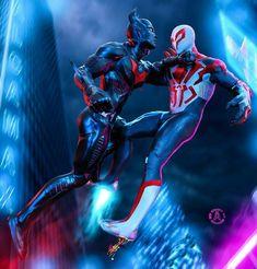 #batmanbeyond #spiderman2099 Marvel Canvas, Marvel Characters, Fictional Characters, Batman Beyond, My Collection, Guardians Of The Galaxy, Wolverine, Captain Marvel, Thor