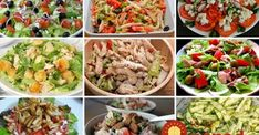 studene salaty Cottage Cheese, Kung Pao Chicken, Fried Rice, Cobb Salad, Cabbage, Mozzarella, Meat, How To Plan, Vegetables
