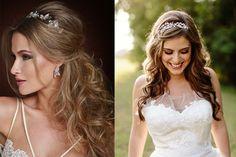Universo das Noivas - Tiaras deixam penteado de noiva mais charmoso