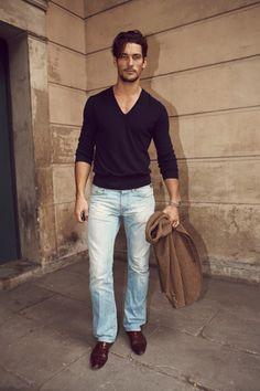 David Gandy casual style