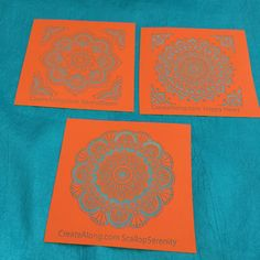 Silkscreen Stencil Mini Mandala set for Polymer Clay and Mixed Media