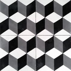 Handmade cement encaustic tiles. Geométrico,Hydraulic Andalusian Tiles for both the floor and wall. MOD-111-D