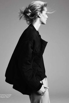 Tomboy chic: the bomber and menswear trousers