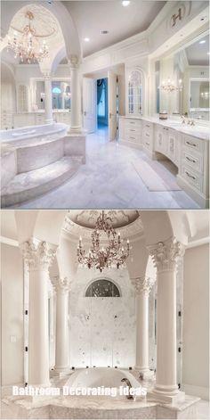 Bathroom decor for your bathroom remodel. Discover bathroom organization, bathroom decor ideas, bathroom tile ideas, bathroom paint colors, and more. Dream Bathrooms, Dream Rooms, Beautiful Bathrooms, Mansion Bathrooms, Fancy Bathrooms, Romantic Bathrooms, Mansion Bedroom, Beautiful Closets, Marble Bathrooms