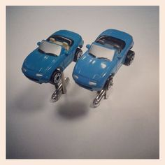 Micro Machine Cufflinks  Mazda Miata 199097 Car by CoolCarCuffs