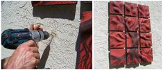 Custom board-backing system for outdoor wall art tile installations (grouting is an option too).