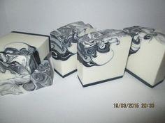 black and white CP soap