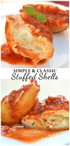 Classic, quick, simple & delicious Stuffed Shells LOADED with cheese | www.craftycookingmama.com | #BertolliTuscanWay #ad
