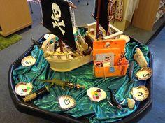Numeracy & literacy through small world Pirate Activities, Eyfs Activities, Nursery Activities, Activities For Kids, Maths Eyfs, Numeracy, Pirate Day, Pirate Theme, Reception Class