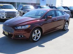 This 2016 Ford Fusion S looks great in red. 2016 Ford Fusion S, Cute Car Accessories, Cute Cars, Future Car, Mazda, Dream Cars, 4x4, Trucks, Vehicles