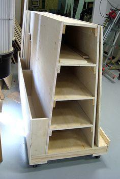 New wood storage cart | Flickr - Photo Sharing!