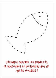 Carte Poisson d avril a decouper pour envoyer par La Poste, sur Merci-Facteur !