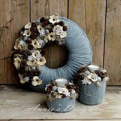 Monogram Wreath, Burlap Wreath, Door Wreaths, Advent Wreaths, Winter Centerpieces, Different Textures, Summer Wreath, Grape Vines, Christmas Sweaters
