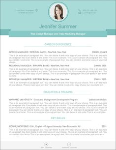 41 best modern resume templates images on pinterest in 2018