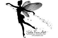 Fairy Silhouette Tattoo   Julie Fain Fairy Art Silhouette