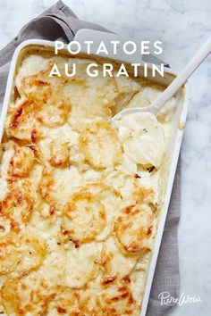 The Best Potatoes au Gratin. Don't serve regular potatoes at Thanksgiving. Serve these instead, they only take 45 minutes to make.