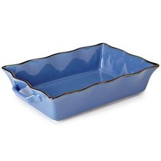 Ksp Tuscana Fluted Bakeware W/Handle 36.5 X 26 X 9 Cm Blue | Kitchen Stuff Plus  Love this and comes in beautiful colours  #KSPPin2win