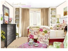 Awesome Beautiful And Lovely House Guest Room Ideas With Unique Bedding Design : 35 Awesome Beautiful And Lovely House Guest Room Ideas Bedroom Ideas Gallery : hpMirror.Com