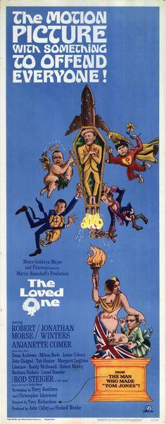 The Loved One (1965) Stars: Robert Morse, Jonathan Winters, Anjanette Comer, Dana Andrews, Milton Berle, James Coburn, John Gielgud, Roddy McDowall, Liberace ~ Director: Tony Richardson